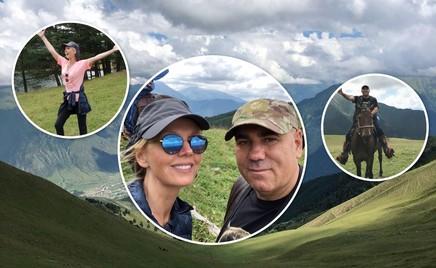 Конный поход: Валерия и Иосиф Пригожин провели незабываемый отпуск в горах