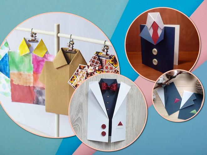 Подарок для папы: 4 варианта открытки-рубашки