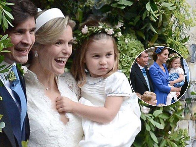 Принцесса Шарлотта на свадьбе своей крестной матери - Софи Картер