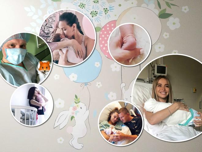 Первые фото: звезды показывают своих новорожденных детей