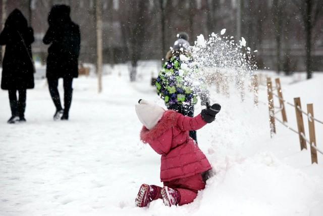 """Набор фото на детский конкурс """"В снегу"""""""