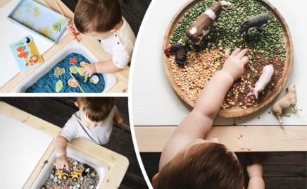 Водный мир, самолеты, феи: идеи для создания детской сенсорной коробки