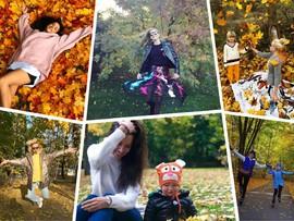 Как дети: звездные родители радуются золотой осени