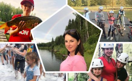 Активная семья: Ирина Слуцкая отдыхает с детьми в веревочном парке