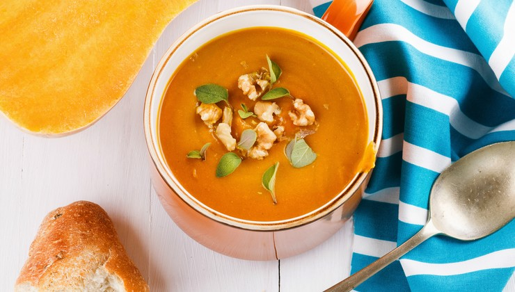 Тыквенный суп-пюре по-французски