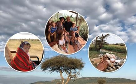 Сафари в Африке: отдых Елены Перминовой с детьми