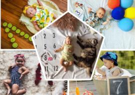 12 идей: детские фотосессии для малыша на каждый месяц