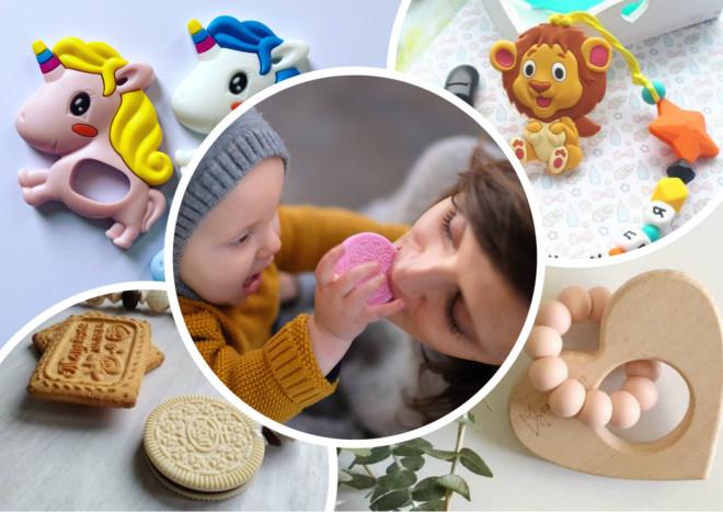 Рукавички, браслеты и другие прорезыватели молочных зубов