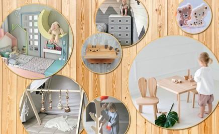 Экологично: мебель и вещи из дерева для детской комнаты