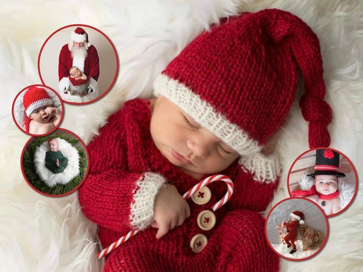 Твой первый Новый год: трогательные фотографии младенцев