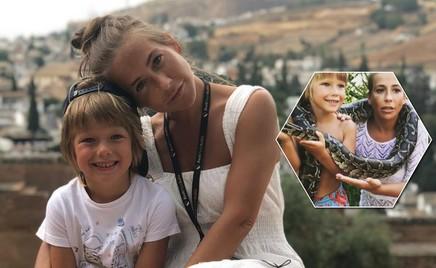 Юлия Барановская избавилась от боязни змей благодаря сыну