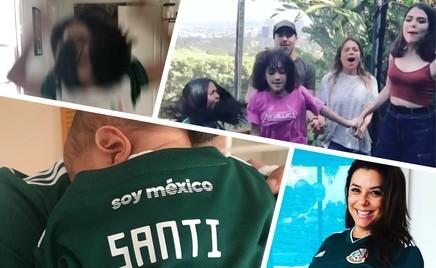 Дети Евы Лонгории и Сальмы Хайек «болеют» за Мексику на ЧМ-2018