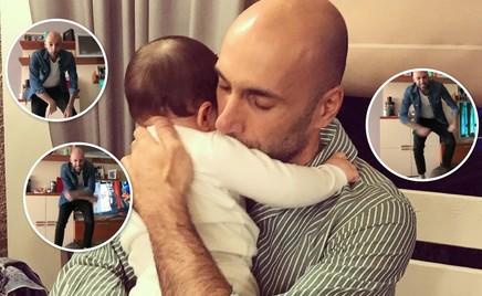 Папа может: Евгений Папунаишвили развлекает дочь танцами