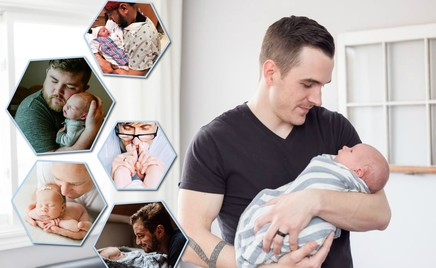 Сила и нежность: 40 трогательных фотографий малышей с папами