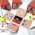 Цирк приехал! Или приглашения и подарочные коробочки на яркий день рождения