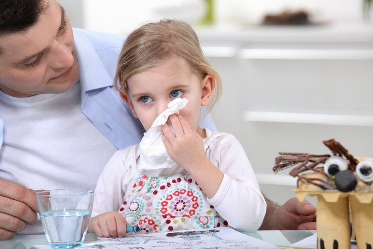 Аллергический бронхит у детей может сопровождаться насморком