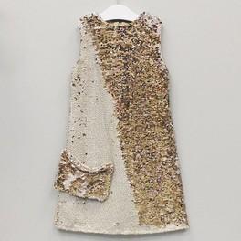 Платья с золотыми паетками