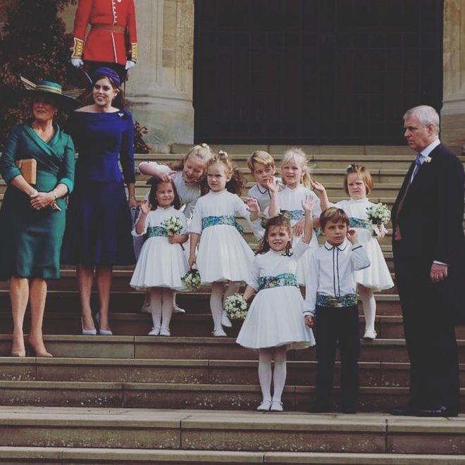 Дети на свадьбе принцессы Евгении