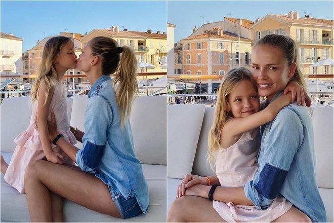 Наташа Поли с дочкой