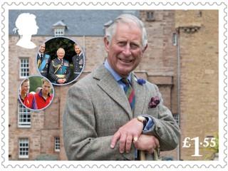 К 70-летию принца Чарльза: 6 новых марок с королевской семьей