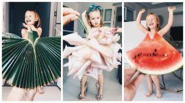 Мама примерила дочке платья из цветов и овощей и не прогадала!